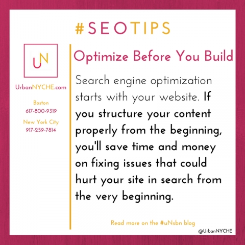 SEO Tips: Optimize Before You Build