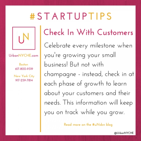 Startup Tips: Check In With Customers